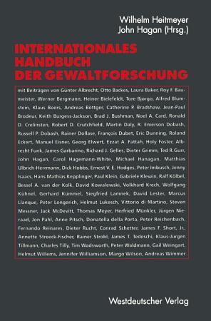 Internationales Handbuch der Gewaltforschung PDF
