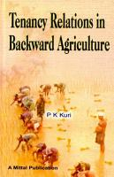Tenancy Relations in Backward Agriculture PDF