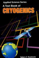 A Text Book Of Cryogenics PDF