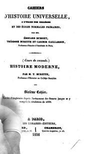 Histoire moderne: Histoire d'Angleterre depuis l'avènement des Stuarts jusque et y compris la révolution de 1688, Volume6