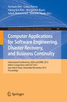 Computer Applications for Software Engineering  Disaster Recovery  and Business Continuity PDF