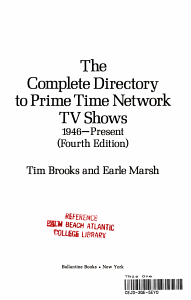 The Complete Directory to Prime Time Network TV Shows  1946 present PDF