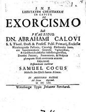 Libertatem Christianam in capite de exorcismo