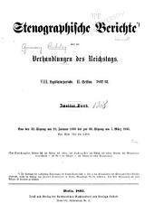 Verhandlungen des Reichstags: Band 128