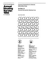Current Housing Reports: Annual housing survey. Housing characteristics for selected metropolitan areas. H-170