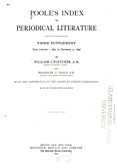 Poole's Index to Periodical Literature: Volume 4