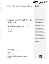 China's Growth and Poverty Reduction