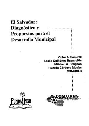 El Salvador Diagnostico Y Propuestas Para El Desarrollo Municipal