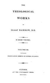 The Theological Works of Isaac Barrow: Volume 3
