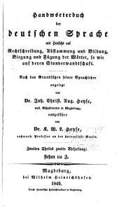 Handwörterbuch der deutschen Sprache: Band 2,Ausgabe 2