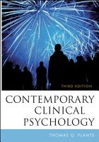Contemporary Clinical Psychology PDF