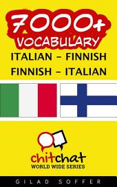 7000+ Italian - Finnish Finnish - Italian Vocabulary