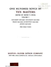 One hundred songs by ten masters