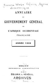 Annuaire du Gouvernement général de l'Afrique occidental française