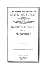 The Novels and Letters of Jane Austen: Mansfield Park