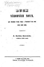 Duch Národních novin: spis obsahující úvodní články z Národních novin roků 1848, 1849, 1850