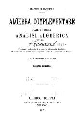 Analisi algebrica