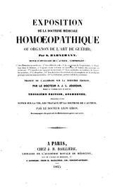 Exposition de la doctrine médicale homoeopathique, ou Organon de l'art de guérir