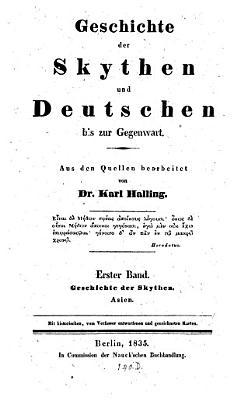 Geschichte der Skythen und Deutschen bis zur Gegenwart PDF