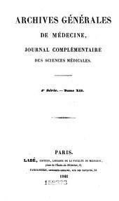 Archives générales de médecine: Volume4;Volume12
