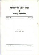 Air University Library Index to Military Periodicals PDF