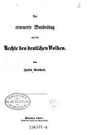 Der erneuerte Bundestag und die Rechte des deutschen Volkes