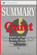 Summary Of Quiet Book PDF