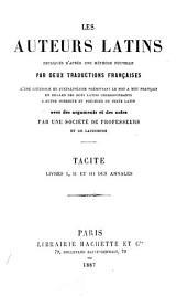 Livres I, II, et III des Annales
