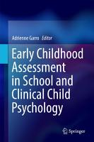 Early Childhood Assessment in School and Clinical Child Psychology PDF