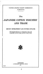 The Japanese Cotton Industry and Trade