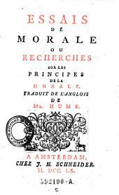 Essais De Morale Ou Recherches Sur Les Principes De La Morale: Volume5