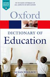 A Dictionary of Education: Edition 2