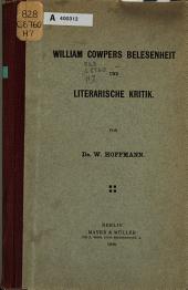 William Cowpers Belesenheit und literarische Kritik