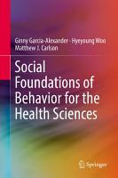 Social Foundations of Behavior for the Health Sciences PDF