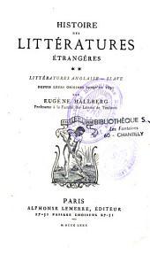 Histoire des littératures étrangères... depuis leurs origines jusqu'en 1850: Volume2