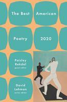 The Best American Poetry 2020 PDF