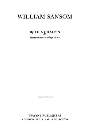 William Sansom PDF