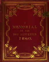 Banquet of James Morrell, esq. to lt. col. North, M.P. and the officers & members of the Oxford city rifle volunteers ... 20th Sept., 1860