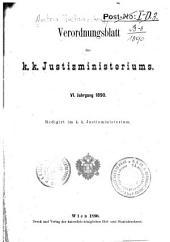 Verordnungsblatt de K.K. Justizministeriums: Band 6