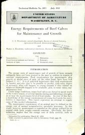 Energy requirements of beef calves for maintenance and growth
