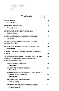 International Peace Research Newsletter PDF