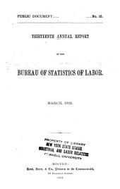 Annual Report on the Statistics of Labor: Volume 13