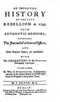 An impartial history of the late rebellion in 1745  From authentic memoirs  etc PDF