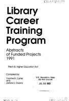 Library Career Training Program PDF