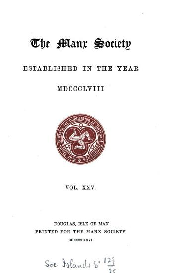A History of the Isle of Man PDF