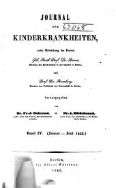 Journal für Kinderkrankheiten: Bände 4-5