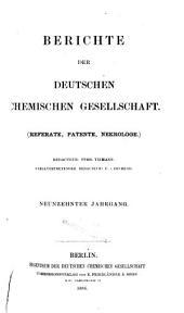 Berichte der Deutschen Chemischen Gesellschaft: Band 19
