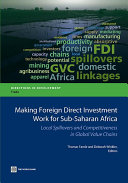 Making Foreign Direct Investment Work for Sub-Saharan Africa