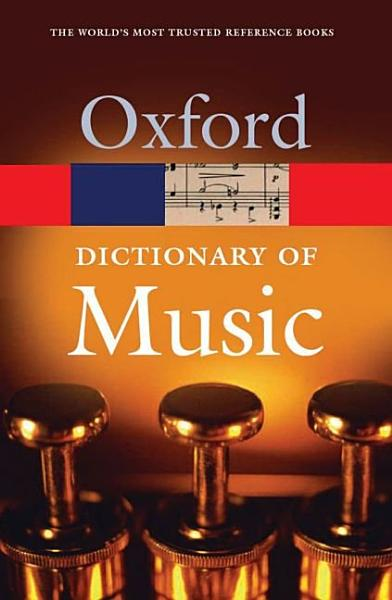 The Concise Oxford Dictionary of Music PDF