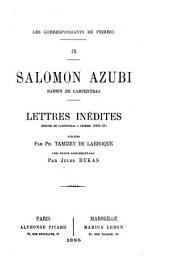 Lettres inédites écrites de Carpentras à Peiresc, 1632-33
